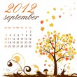 Calendar for 2012 September — Stock Vector