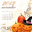 Calendar for 2012 November — Stock Vector