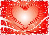 Grunge valentines background, vector — Stock Vector