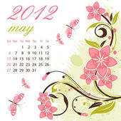 Calendar for 2012 May — Stock Vector