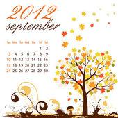 Calendar for 2012 September — Stock Vector