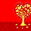Royalty-Free Stock Vector Image: Valentines Day background with tree and hearts