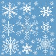 ストックベクタ: Snowflakes collection