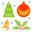 Christmas sticker — Stock Vector
