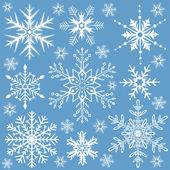 Sneeuwvlokken collectie — Stockvector