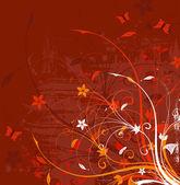 Grunge flower background — Stock Vector
