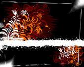 Ilustracja kwiat tło — Wektor stockowy