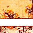 Grunge flower background — Stock Vector #7590979