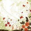 Grunge flower background - Stockvectorbeeld