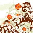 Grunge flower background - Imagen vectorial