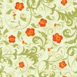 Floral seamless pattern, vector - Stockvectorbeeld