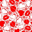 Stock Vector: Valentines Day seamless pattern
