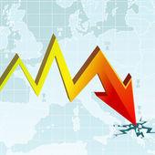 Economic Crisis Graph — Stock Vector