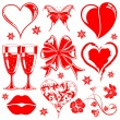 Valentines Day collection — Stock Vector