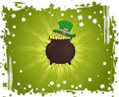 Grunge St. Patrick's Day Background — Stock Vector