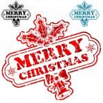 Christmas Stamp — Stock Vector #7901504