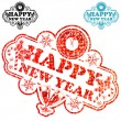 New Year Stamp — Stock Vector #7901511