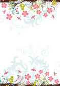 Floral frame — Stock Vector