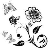 Floral design — Stockvector