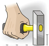 Mão com o martelo — Vetorial Stock