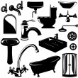 Stock Vector: Bathroom objects
