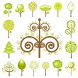Tree graphics - Stock Vector