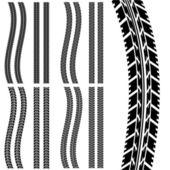Car tyre — Stock Vector