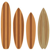 Wooden surfboards — Stock Vector