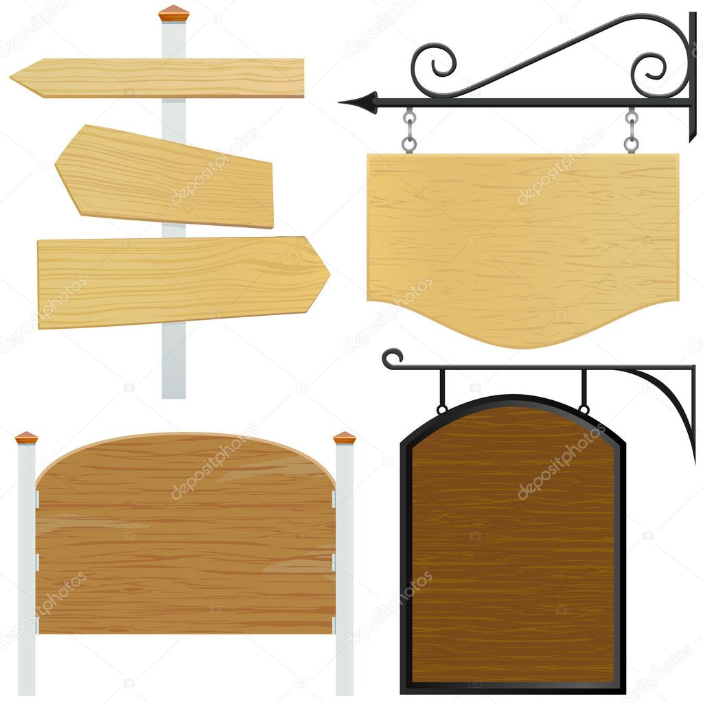 Set of wooden sign  Stock Vector #6766164