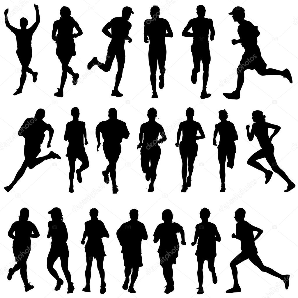 Set of runner — Stock Vector #6766188