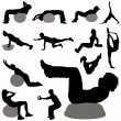 Fitness silhouette — Stock Vector