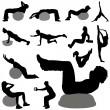 Fitness silhouette — Stock Vector