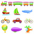 Cartoon transportation - Stock Vector
