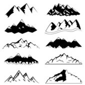 Set of mountain — Stock Vector