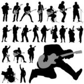 Set of musician — Stock Vector