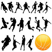 Basketball silhouette — Stock Vector