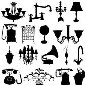 Antique objects — Stock Vector