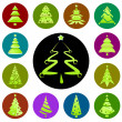 Royalty-Free Stock Vector Image: Christmas tree icon