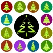 Christmas tree icon — Stock Vector #6931537