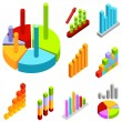 Stock Vector: Business statistics
