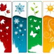 Vector de stock : Four season