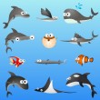 Royalty-Free Stock Imagen vectorial: Cartoon fish character