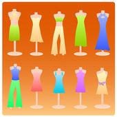 Dress design background — Stock Vector