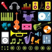Musik-elemente — Stockvektor