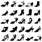 Fashion women shoes — Stock Vector