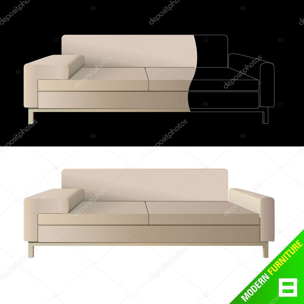 Modern Furniture Stock Vector Bogalo 6931644