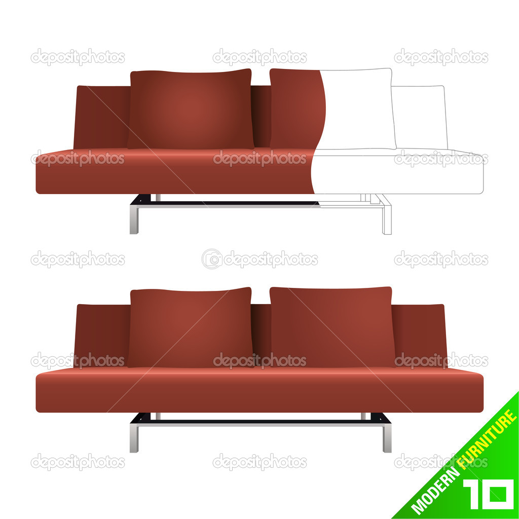 Modern furniture design — Stock Vector #6931666