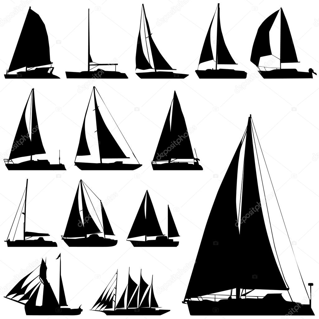 Sailing Ship Silhouette Sailing boat - stock