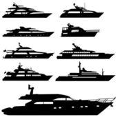 Motor yacht — Stock Vector