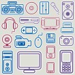 Royalty-Free Stock Vector Image: Electronic icon set